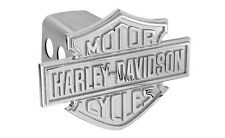Harley Davidson 3D Monotone Bar & Shield Emblem Trailer Tow Hitch Cover Plug