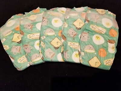 Sz1 set of 5 The Honest Company•°°•PANDAS•°°• print diapers for Reborn or baby