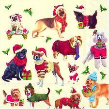 Christmas Cani di Lusso Di Carta Tovaglioli Tovaglioli 20 IN CONF. 3ply Ihr
