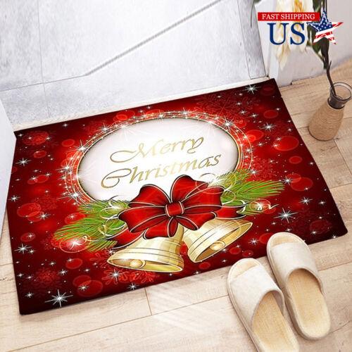 Christmas Non-slip Home Door Floor Mats Kitchen Carpets Festive Decor Rugs Gift