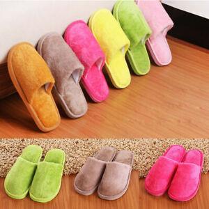 Unisex Winter Warm Sandal Indoor Home Cotton Slippers Anti-slip Soft Shoes UK SZ
