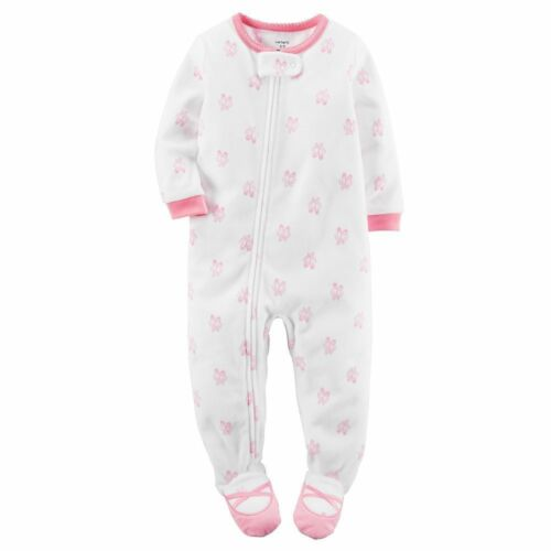 Carters NWT 6 12 18 24 Month 2T 3T 4T 5T Footed Fleece Pajama Baby Toddler Girls
