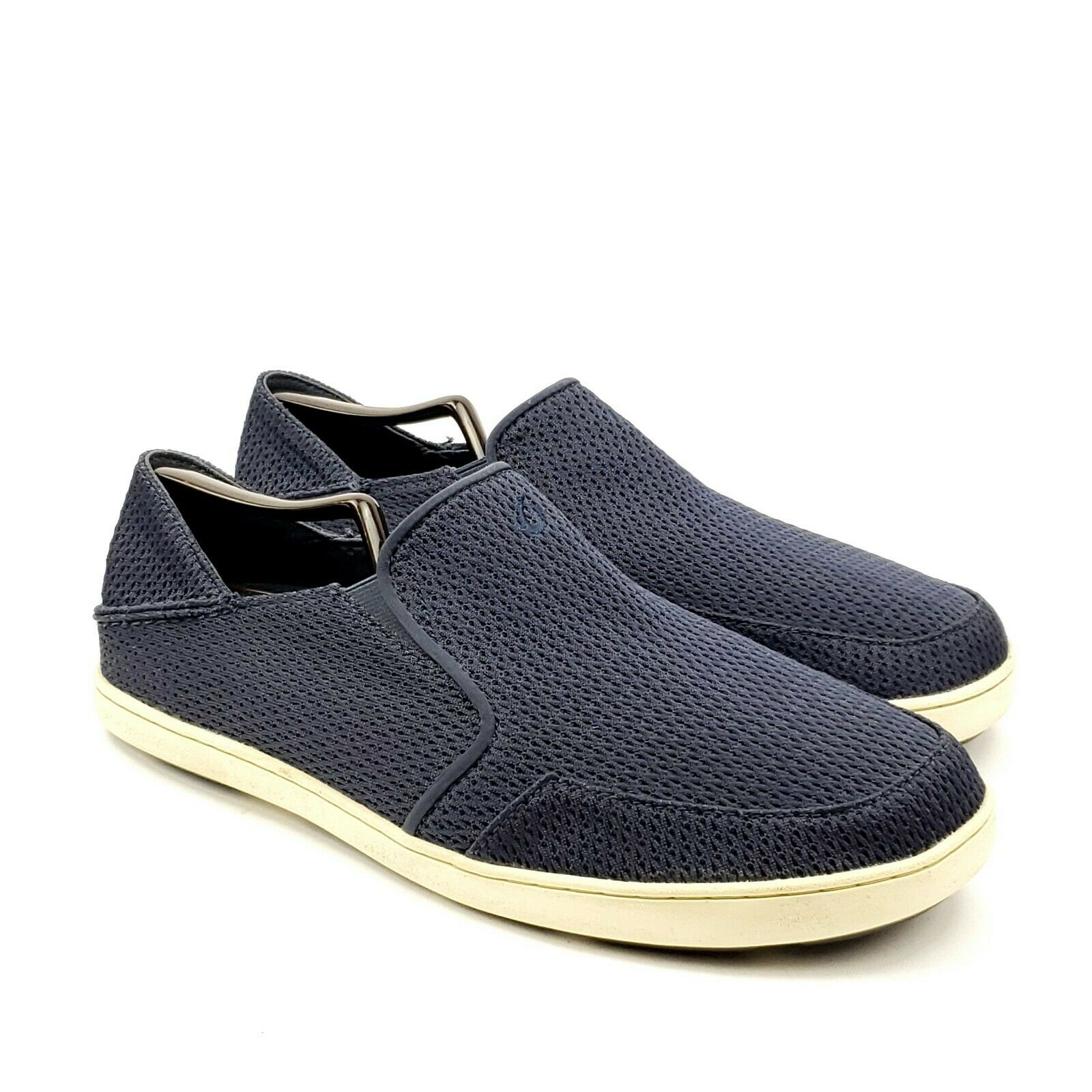 Olukai Wehi Nohea Mesh Mens Blue Slip On Boat Shoe Loafers Sz US 11 M 10426-DEDE