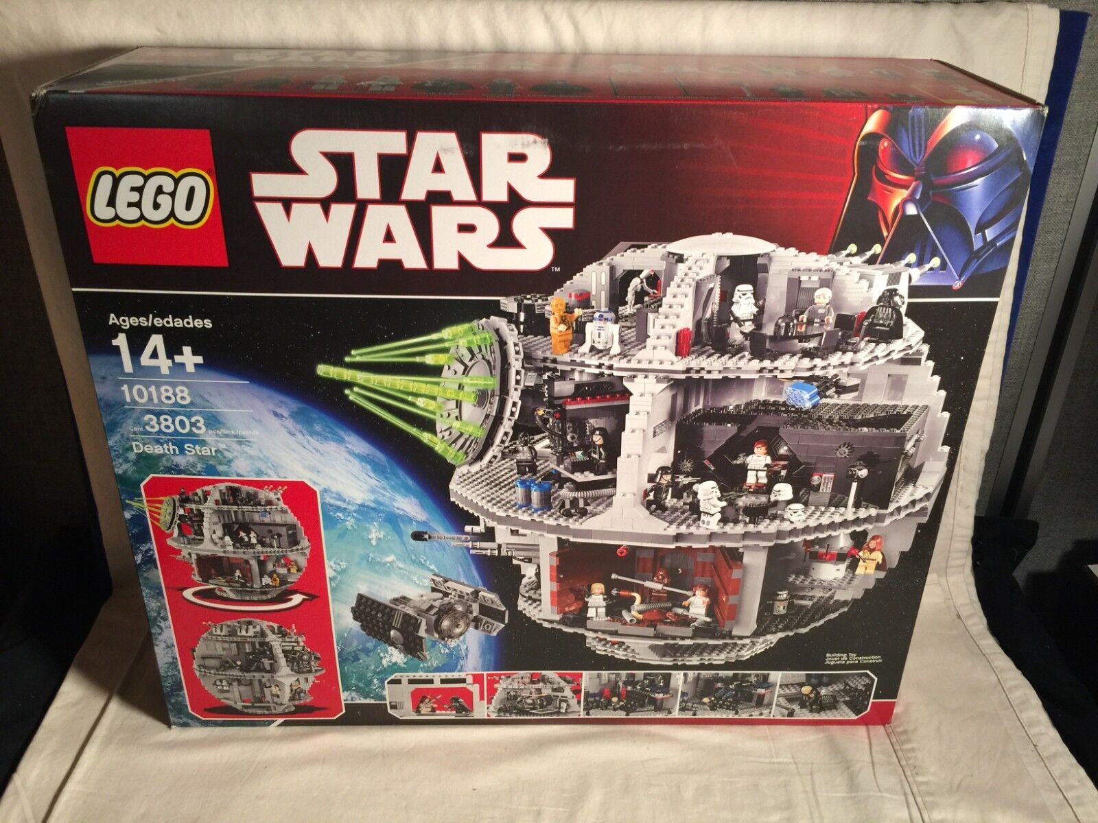 Star Wars Lego 10188 DEATH STAR 3803pc NEW SEALED + + + 25 Mini Figures SHIPPING BOX 07d4c6