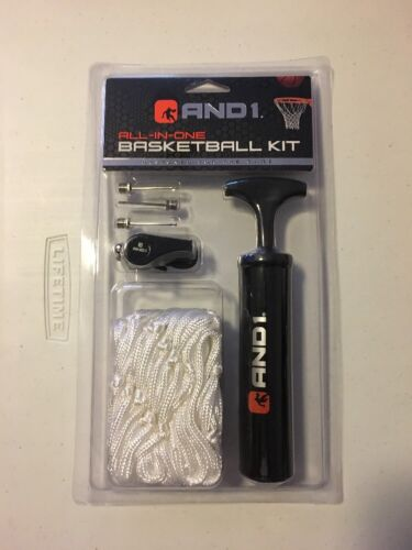 All In One Basketball Kit Whistle Air Pump Net Needles