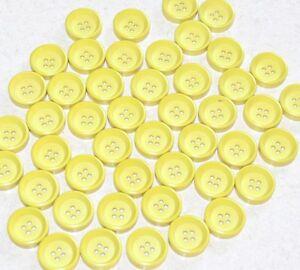 """lot de 5 boutons """" jaune tirant sur le vert """" 18mm mercerie couture button"""