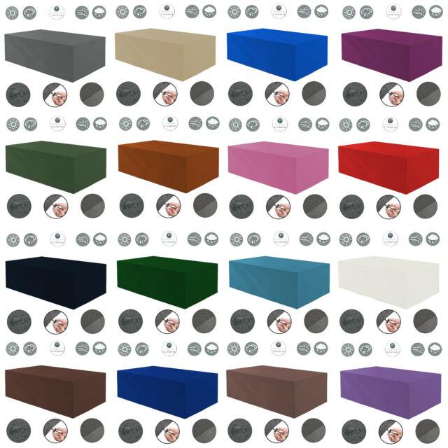 Abdeckhaube anthrazit für Tisch eckig Schutzhülle Möbelabdeckung 150x100x75cm