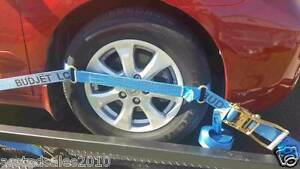 TYRE-STRAP-LINK-4-PACK-STRAP-CAR-TRAILER-STRAP-RATCHET-STRAP-4x4-FREE-POST