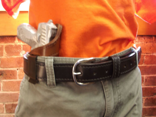 J/&J RUGER LCP 2 II W// GREEN CRIMSON TRACE LASER IWB IN WAISTBAND LEATHER HOLSTER