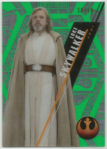 Star-Wars-High-Tek-2016-GREEN-Parallel-Base-Card-SW-96-Luke-Skywalker-10-10