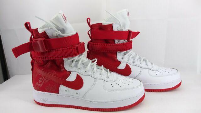 the latest 2b821 8327c NIKE SF-AF1 High Air Force 1 University Red White AR1955-100 12 Special  Forces