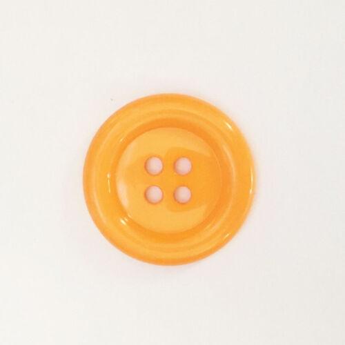Vendu à l/'Unité Gros Boutons Clown  38mm Orange