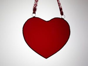 4a2b29a735b4 Mother s Day Red Heart Present Gift (Stained Glass) Suncatcher ...