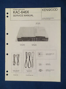 KENWOOD-KAC-646X-AMPLIFIER-SERVICE-MANUAL-ORIGINAL-FACTORY-ISSUE-GOOD-CONDITION