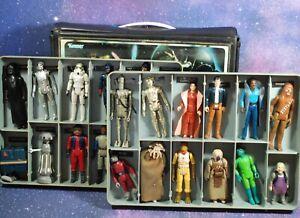 25-VINTAGE-Star-Wars-ACTION-FIGURES-LOT-VINYL-COLLECTORS-CASE-KENNER-figure