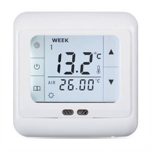 Floureon-BYC07-H3-16A-White-Touch-Screen-Thermostat-With-Weekly-Programming-EU