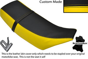 YELLOW /& BLACK CUSTOM FITS BENELLI 491 50 DUAL LEATHER SEAT COVER ONLY