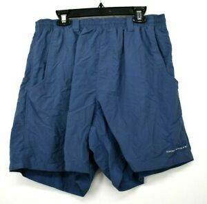 Columbia-Sportswear-Company-Womens-Blue-Stretch-Waist-Pocket-Running-Shorts-M