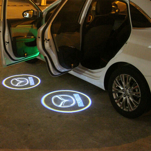 2x LED mazda Logo Door Courtesy Laser Shadow Lights For Mazda 6 ATENZA 2014-2017