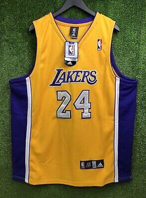 Adidas Los Angeles Lakers Kobe Bryant #24 Yellow Stitched Sewn ...