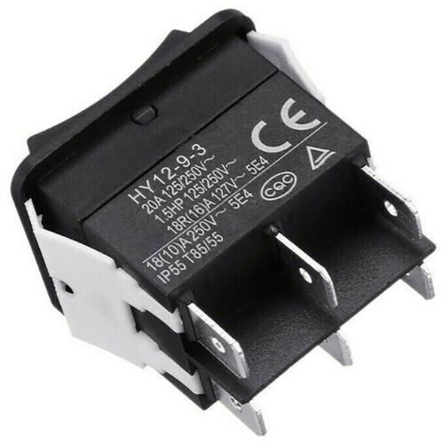 HY12-9-3 6 Pins Industrial Electric Rocker Switch Push Button Switc-ZF