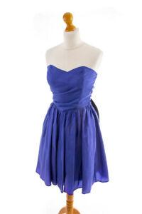 vintage partykleid kurz blau taft wickellook cocktailkleid 90er abendkleid 34  ebay