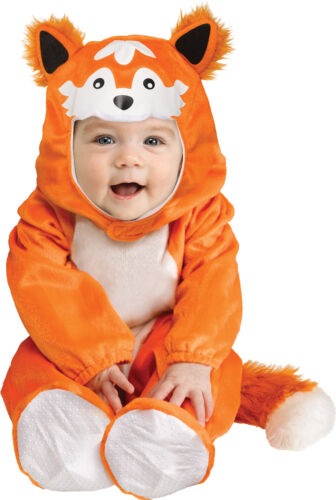 Baby Fox Cute Hood Child Costume Soft Knit Footed Jumpsuit Halloween Funworld