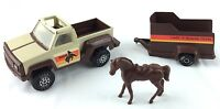 "Tonka Toys 1979 Lazy ""t"" Riding Team Pickup And Horse Trailer With Horse"