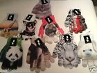 PRIMARK LADIES  TOUCH SCREEN GLOVES PUG  CHIHUAHUA TIGER ELEPHANT SEAL PANDA