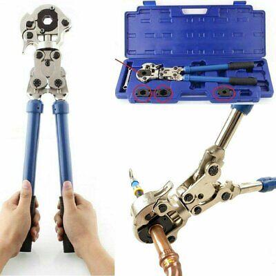 Presszange V-Kontur Rohrpresszange 15-18-22-28 mm Pressbacken 360° drehbar
