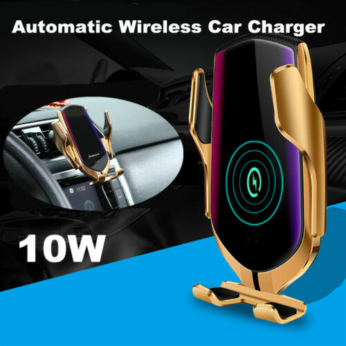 Automatic Wireless Fast Charging Car Charger Mount Clamping Phone ...