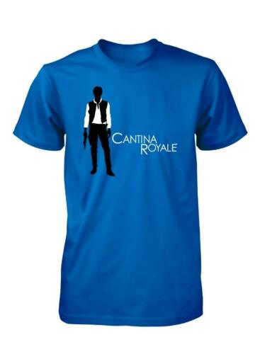 CONTRABBANDIERI ROYALE JAMES BOND MOS EISLEY MASH UP STAR WARS T-SHIRT BAMBINO 3-15 anni