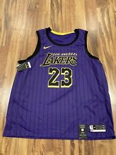 Nike Lebron James La Lakers City Edition Swingman Jersey Aj4618 ...