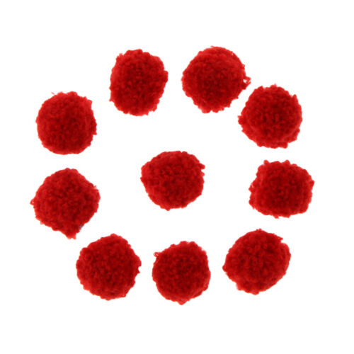10Pcs Flauschige Plüschkugel Pompom Kugeln Pompons Filz Bälle für