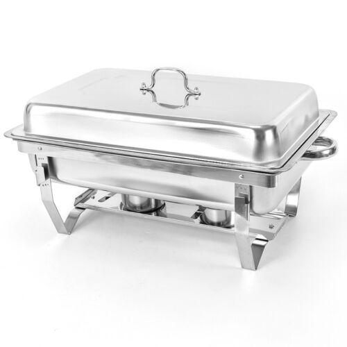 2x 9 L Speisenwärmer Chafing Dish Warmhaltegerät Warmhaltebehälter Edelstahl NEU