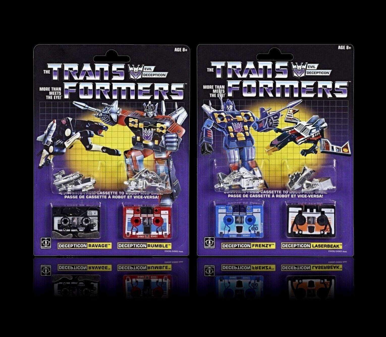 Transformers G1 riemettere confezione 2 Set di 2 PEZZI, Rumble, Frenzy, Gufo è nuovo in scatola sigillata