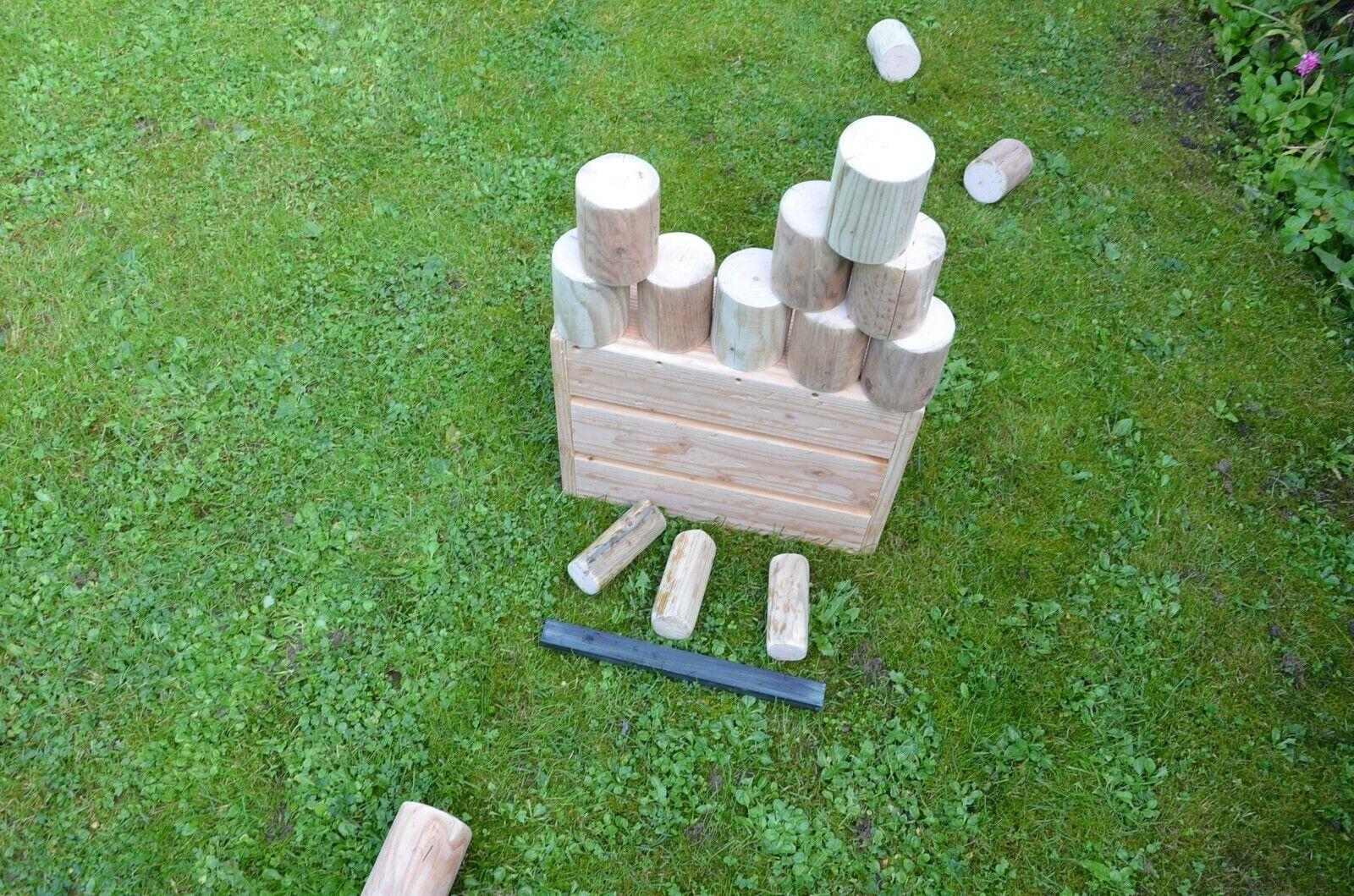 Outdoorspiele  Holzdosenwerfen natur  für für für draußen mit Stabiler Holzkiste. 80cc0b