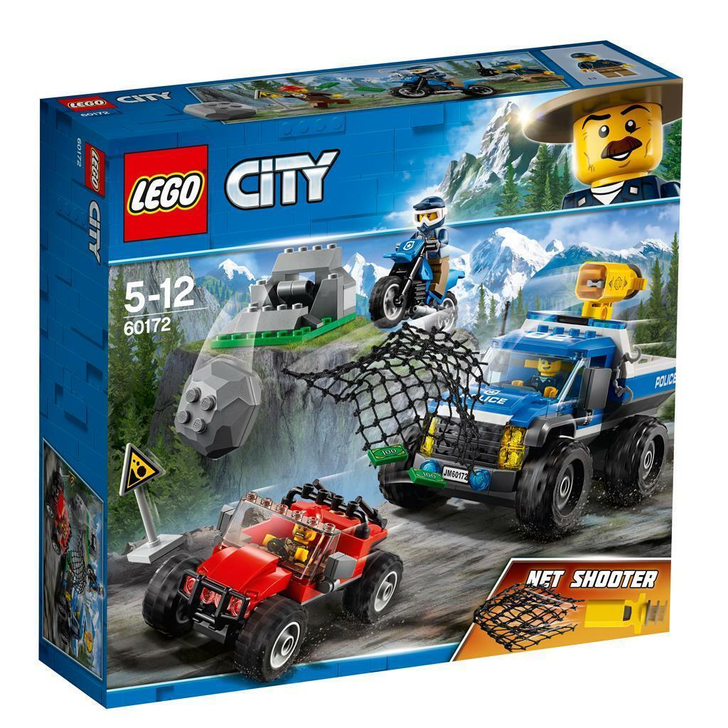 Lego City Set 60172 Course-Poursuite sur Schotterpisten