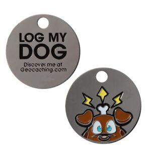 Groundspeak-Travel-Bug-jour-Log-My-Dog-Geocaching-Geocoin