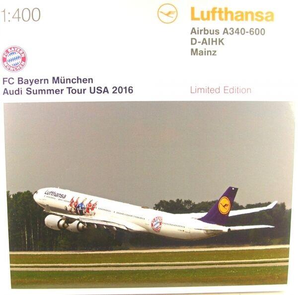 Airbus A340-600 - FC Bayern Audi Summer Tour USA 2016 - Lufthansa (Reg. D-AIHK)  | Feinbearbeitung