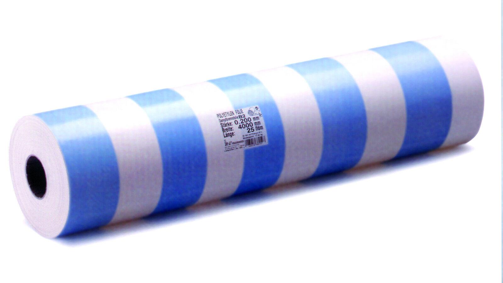 Dampfbremse Dampfsperre Blau Weiß 100 m²; 2x50 m - 200 my