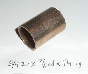 Oilite Bushing Bronze New 3//4 id x 7//8 od x 1//2 Brass Bearing sleeve Bush shim
