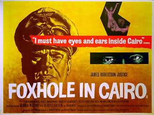 FOXHOLE-IN-CAIRO-1960-James-Robertson-Justice-Albert-Lieven-UK-QUAD-POSTER