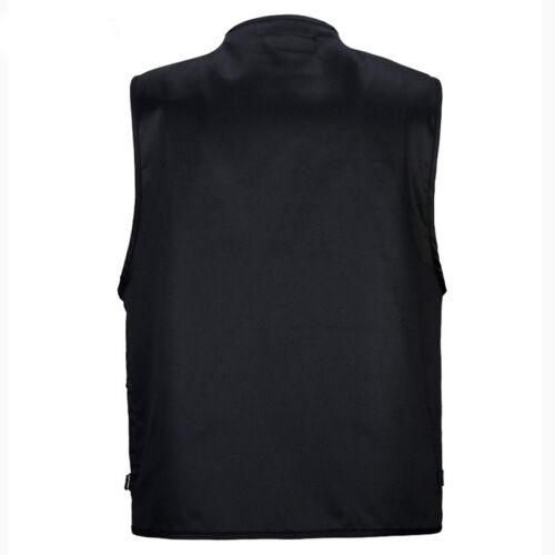 Chaqueta para hombre casual de herramienta Chaleco Sin Mangas Varios Bolsillos Chalecos Tops ropa de trabajo