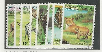 Congo, Postage Stamp, #1008-1015 Used, 1993