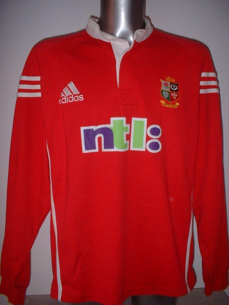 British Lions Vintage 2001 NTL Adidas L S XXL Rugby Union Shirt Jersey Top