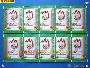 Panini-EURO-2008-EM-08-10x-glitzergruene-Tueten-packets-bustine-pochettes-RAR