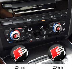 S-line-Emblem-Aufkleber-MMI-Audio-Control-Knopf-Stickers-S-line-Logo-2x-decals
