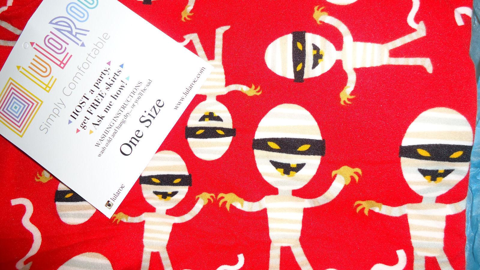 0a96d7ae0a62a5 LuLaRoe Halloween RED Mummy Unicorn Leggings OS GET 10 31 by MUMMY ...