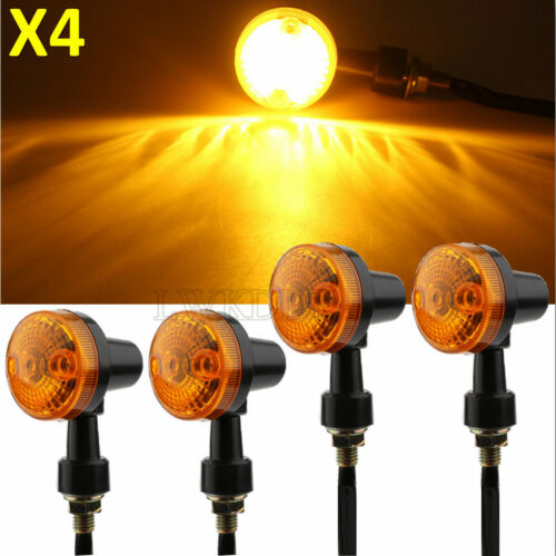 4x Bullet Motorcycle Turn Signal Amber For Suzuki Bandit GSF 400 600 1200 1250S